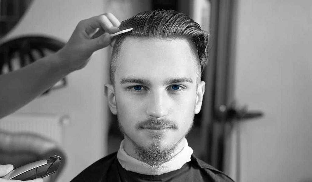 Стрижка андеркат с зачесыванием волос назад