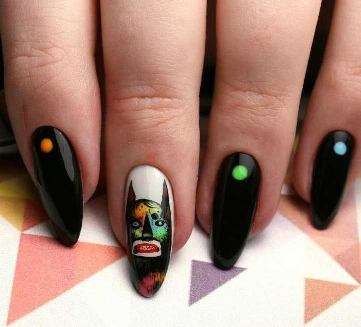 Бэтмен на ногтях фото