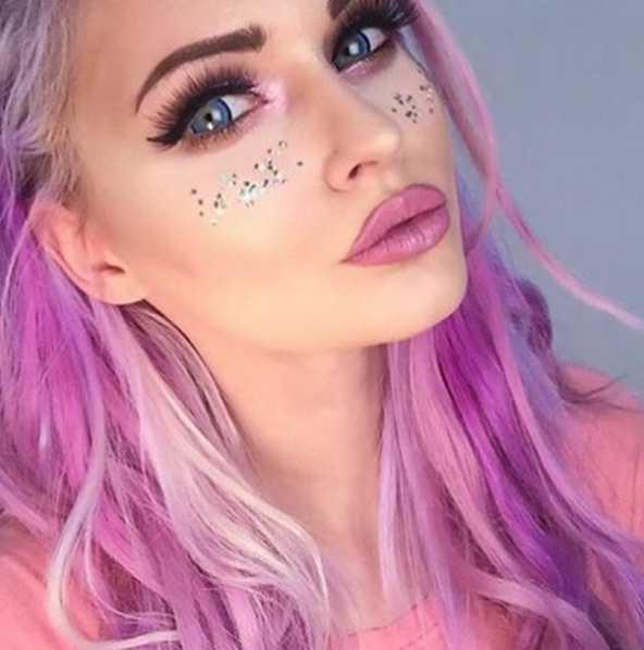 макияж в стиле глэм-рок