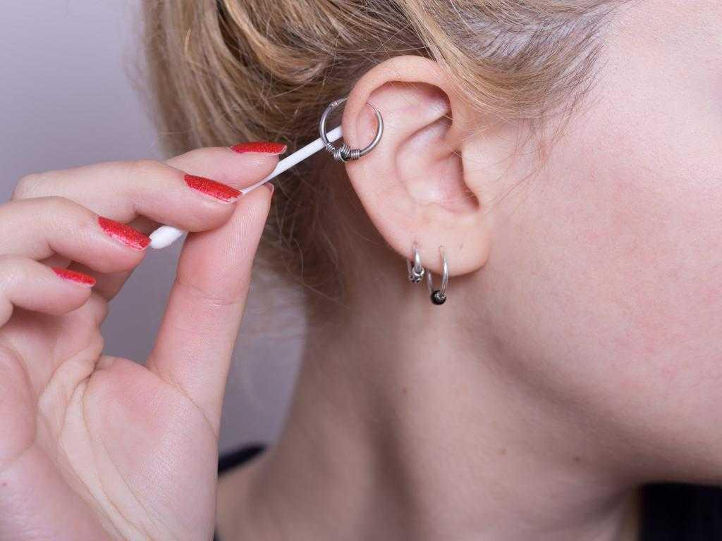 болят уши после сережек что делать