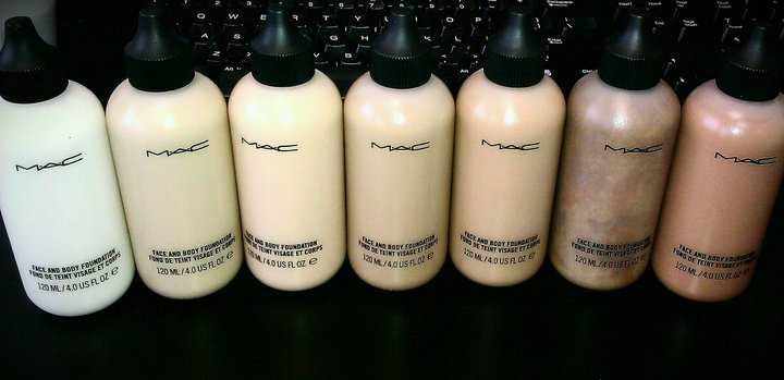Оттенки Face and Body Foundation
