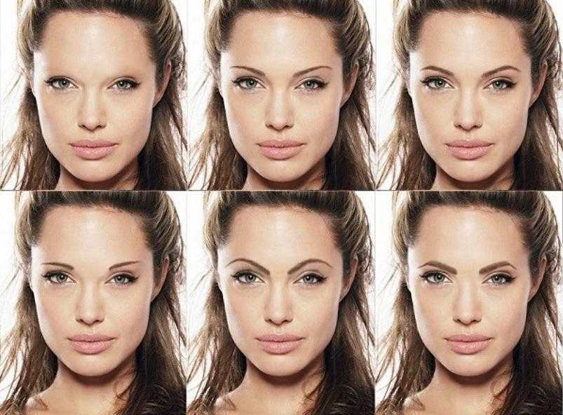 как брови меняют лицо фото