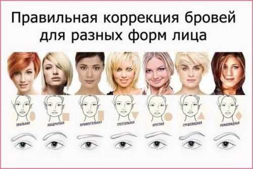 брови меняют лицо человека