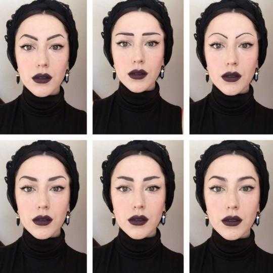 фото формы бровей для разных типов лица