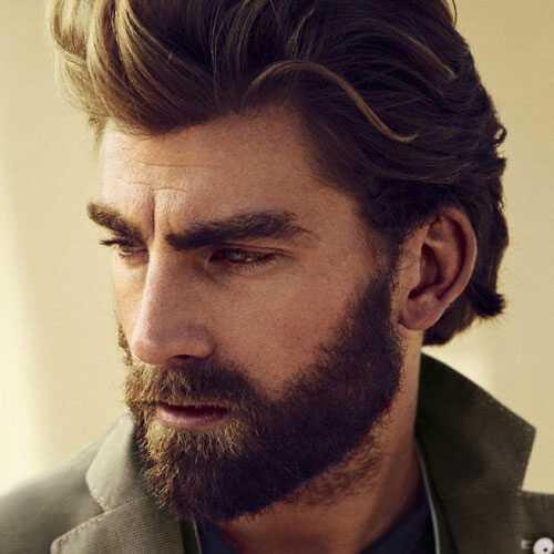 каскадное каре с бородой